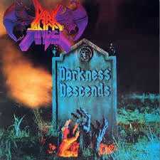 DARK ANGEL-DARKNESS DESCENDS LP VG COVER G