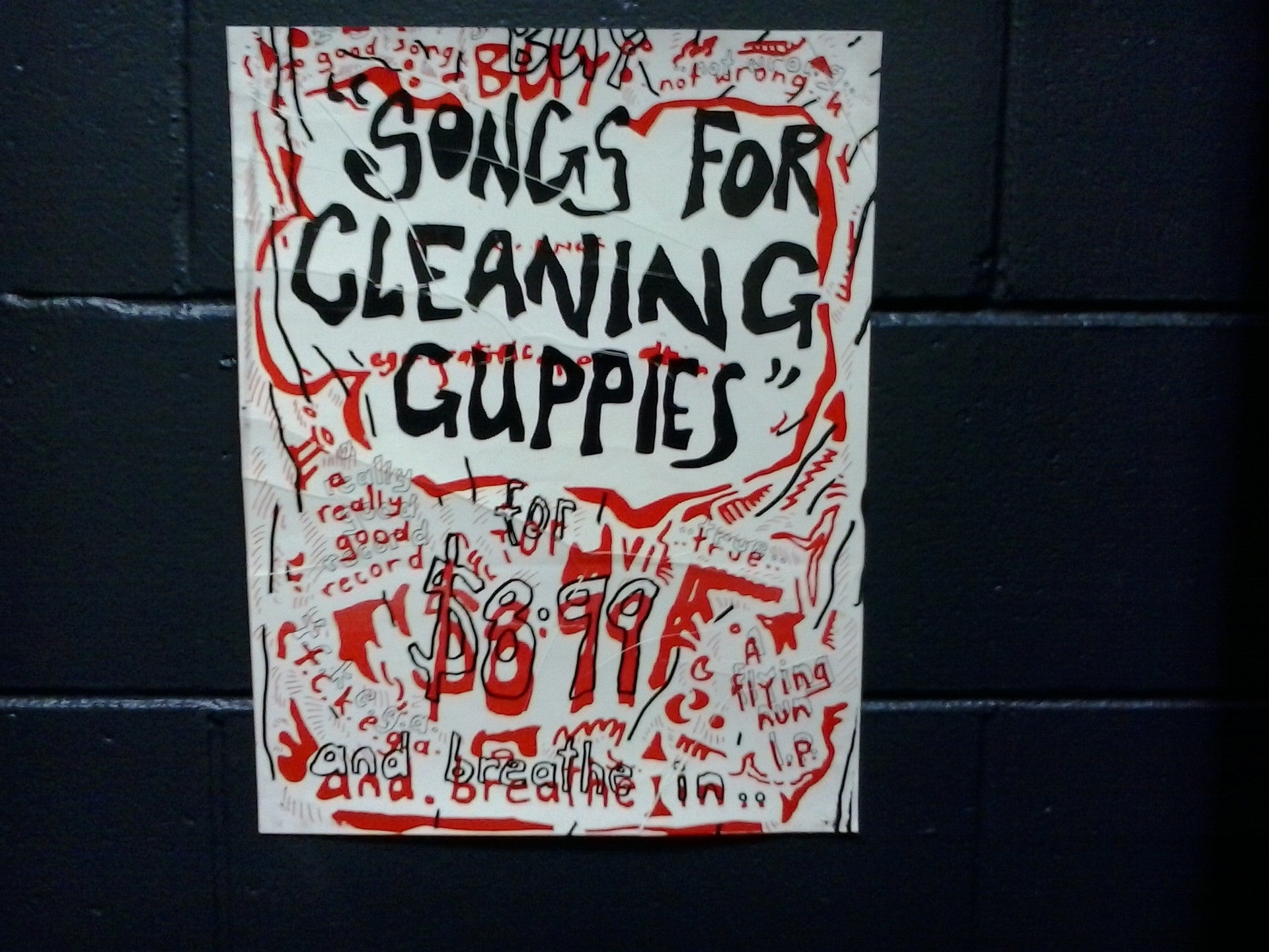 TALL DWARFS-SONGS FOR CLEANING GUPPIES ORIGINAL PROMO POSTER