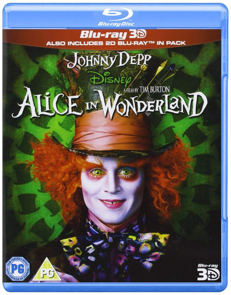 ALICE IN WONDERLAND 3D BLURAY + BLURAY VG+