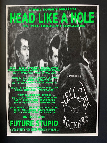HEAD LIKE A HOLE-AS THE HELLCAT ROCKERS ORIGINAL TOUR POSTER