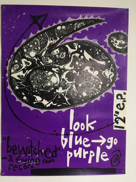 "LOOK BLUE GO PURPLE-BEWITCHED 12"" ORIGINAL PROMO POSTER"