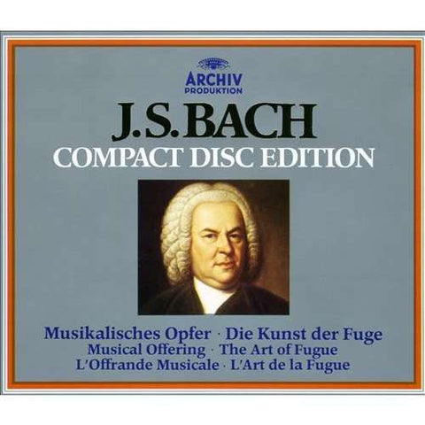 BACH-MUSICAL OFFERING / THE ART OF FUGE 3CD VG+