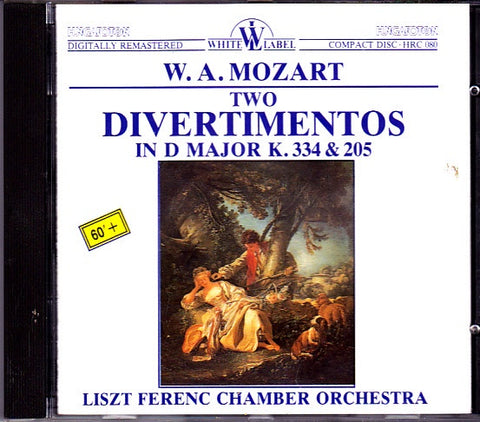 MOZART W A- TWO DIVERTIMENTOS IN D MAJOR K 334 & 205 CD VG