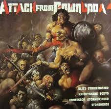 ATTACK FROM DOWNUNDA-VARIOUS ARTISTS LP EX COVER VG+
