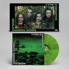 TYPE O NEGATIVE-WORLD COMING DOWN GREEN/ BLACK VINYL 2LP *NEW*