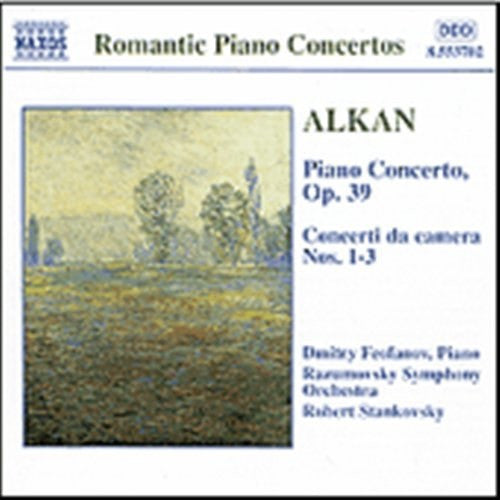 ALKAN-COMPLETE WORKS FOR PIANO AND ORCHESTRA CD VG