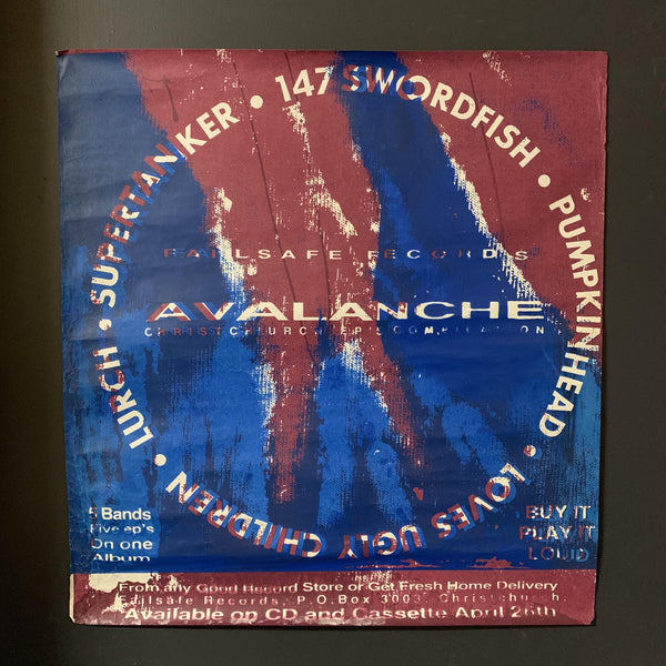 FAILSAFE RECORDS AVALANCHE COMPILATION ORIGINAL PROMO POSTER
