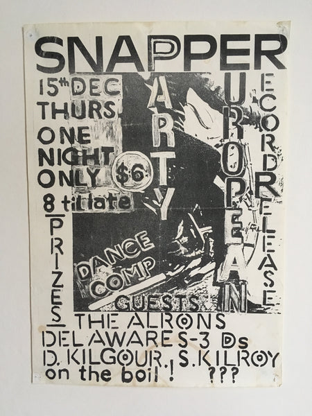 SNAPPER-EUROPEAN RECORD RELEASE PARTY ORIGINAL GIG POSTER