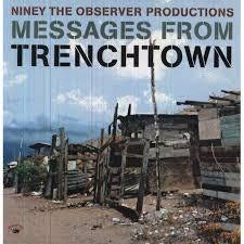 NINEY THE OBSERVER PRODUCTIONS MESSAGES FROM TRENCHTOWN LP EX COVER VG+