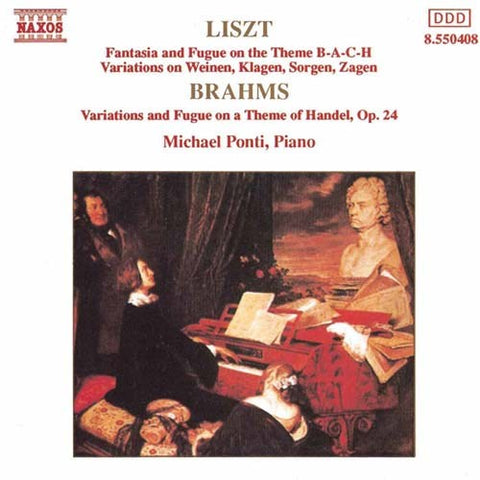LISZT BRAHMS - FANTASIA & FUGUE - HANDEL VARIATIONS CD VG