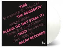 RESIDIENTS THE-PLEASE DO NOT STEAL IT! CLEAR VINYL LP *NEW*