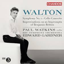 WALTON-SYMPHONY NO.2/ CELLO CONCERTO PAUL WATKINS CD *NEW*