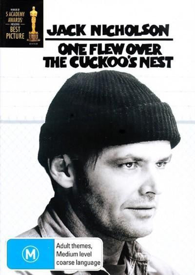 ONE FLEW OVER THE CUCKOOS NEST DVD VG