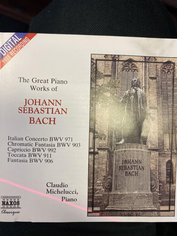 BACH JOHANN SEBASTIAN-THE GREAT PIANO WORKS OF CD VG