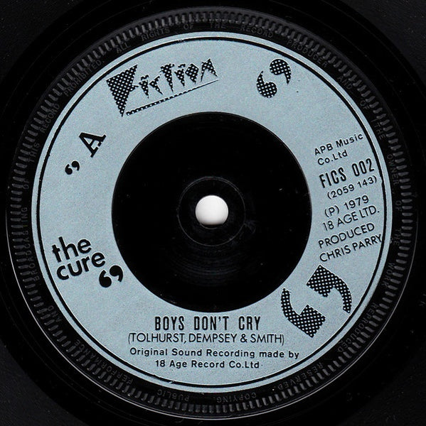 CURE THE-BOYS DON'T CRY 7'' SINGLE VG+