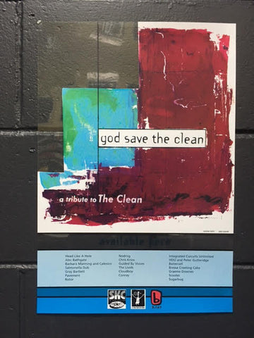 GOD SAVE THE CLEAN PROMO POSTER PLASTIC