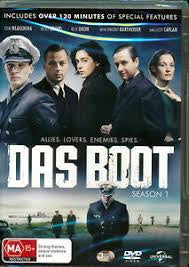 DAS BOOT-SEASON 1- 3 DVD VG