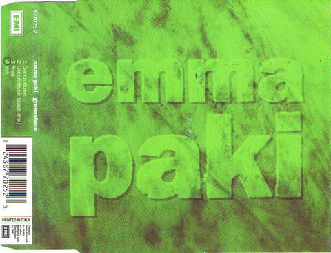 PAKI EMMA-GREENSTONE CD SINGLE G
