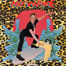 NO WAVE-VARIOUS ARTISTS TRANSPARENT BLUE VINYL LP VG+ COVER VG