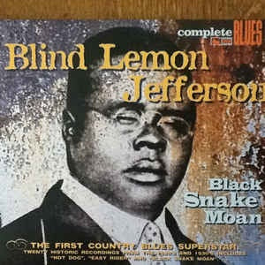 JEFFERSON BLIND LEMON-BLACK SNAKE MOAN CD VG