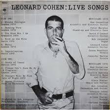 COHEN LEONARD-LIVE SONGS LP VG+ COVER VG+