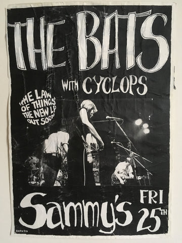 BATS THE WITH CYCLOPS-ORIGINAL GIG POSTER