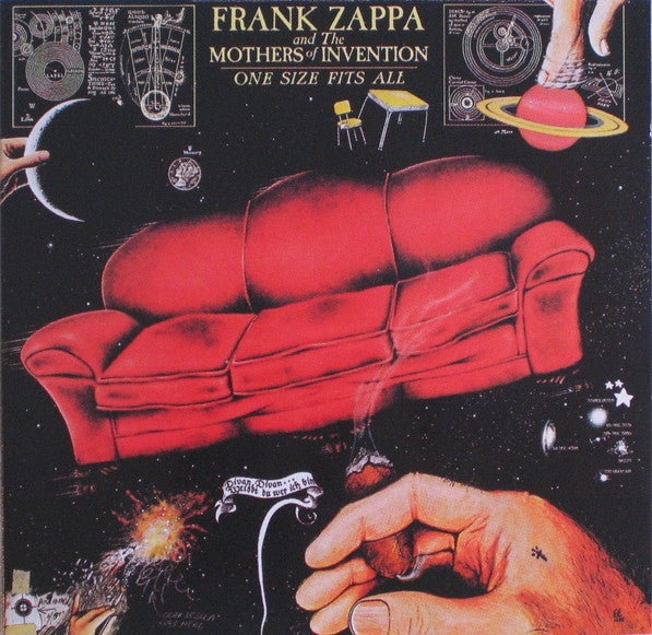 ZAPPA FRANK AND THE MOTHERS OF INVENTION-ONE SIZE FITS ALL CD VG
