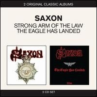 SAXON-STRONG ARM OF THE LAW & THE EAGLE HAS LANDED 2CD VG