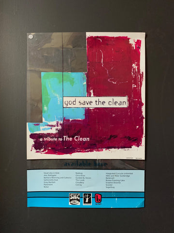 GOD SAVE THE CLEAN ORIGINAL PROMO POSTER