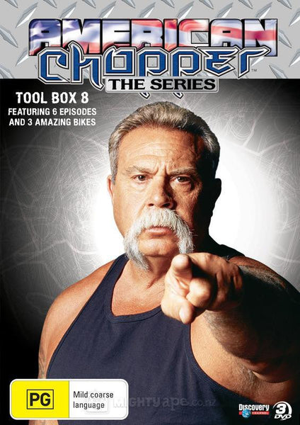 AMERICAN CHOPPER TOOL BOX 8-3DVD M