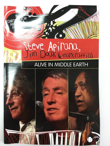 APIRANA STEVE-ALIVE IN MIDDLE EARTH DVD VG