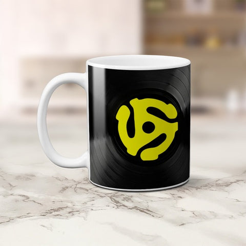 45 RECORD ADAPTER MUG *NEW*