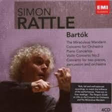 BARTOK-ORCHESTRAL WORKS SIMON RATTLE 4CD VG