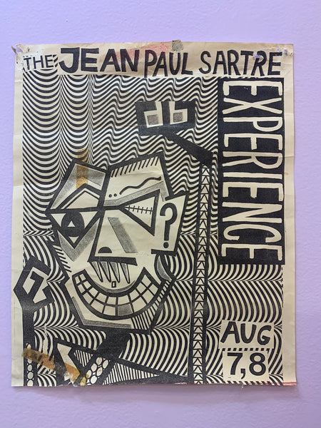 JEAN PAUL SARTRE EXPERIENCE ORIGINAL GIG POSTER