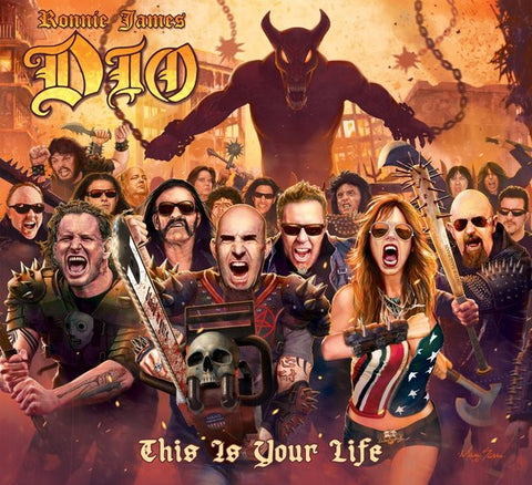 DIO RONNIE JAMES-THIS IS YOUR LIFE CD VG+