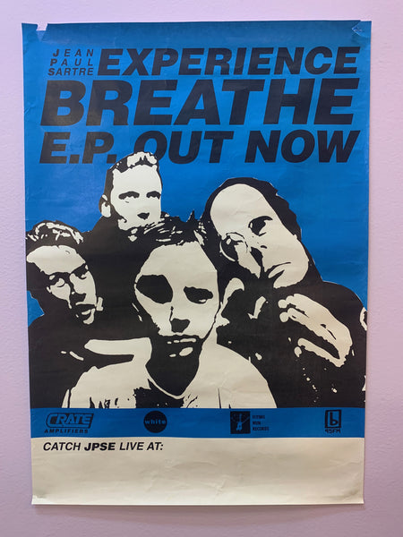 JEAN PAUL SARTRE EXPERIENCE BREATHE EP ORIGINAL PROMO + GIG POSTER