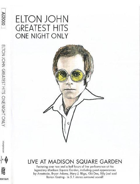 JOHN ELTON-GREATEST HITS ONE NIGHT ONLY DVD VG
