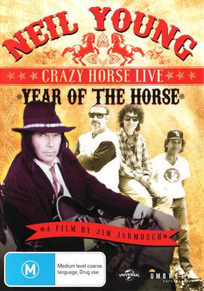 YOUNG NEIL AND CRAZY HORSE-YEAR OF THE HORSE LIVE DVD NM