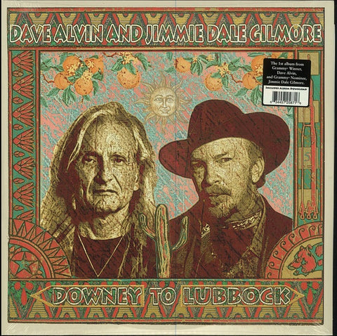ALVIN DAVE & JIMMIE DALE GILMORE-DOWNEY TO LUBBOCK 2LP *NEW*