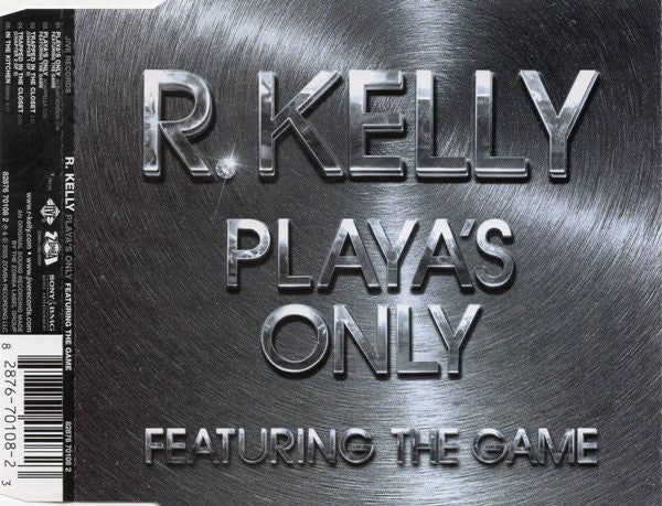 R.KELLY-PLAYA'S ONLY CD SINGLE VG
