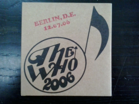 WHO THE-BERLIN 12/7/06 DVD *NEW*