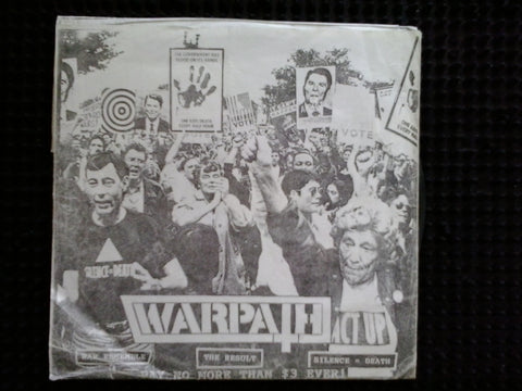 "WARPATH/ POPULATION CONTROL SPLIT 7"" EP VG"
