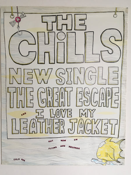 CHILLS THE-GREAT ESCAPE/ LEATHER JACKET ORIGINAL PROMOTIONAL POSTER