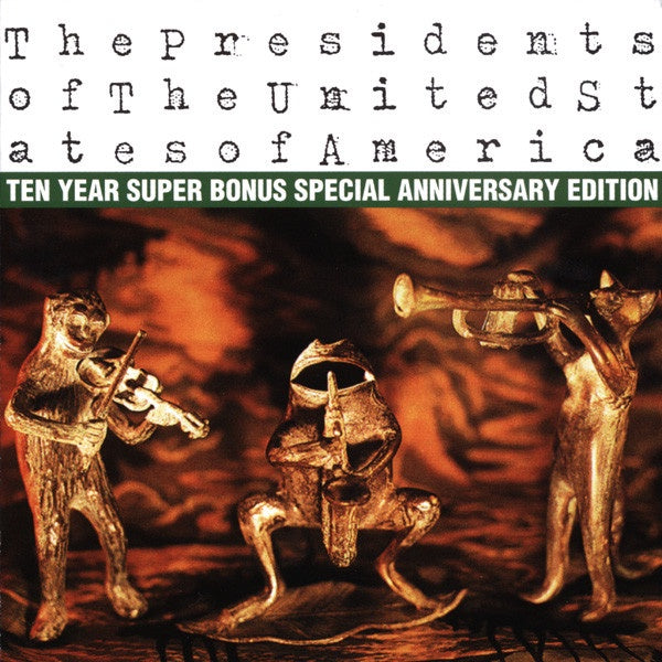 PRESIDENTS OF THE UNITED STATES OF AMERICA THE CD + DVD VG+