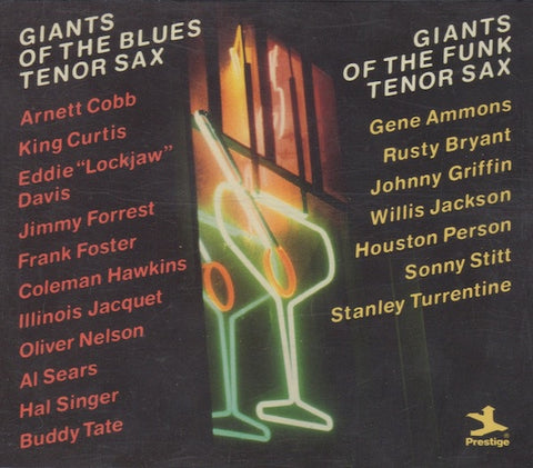 GIANTS OF THE BLUES & FUNK TENOR SAX-VARIOUS ARTISTS 3CD VG
