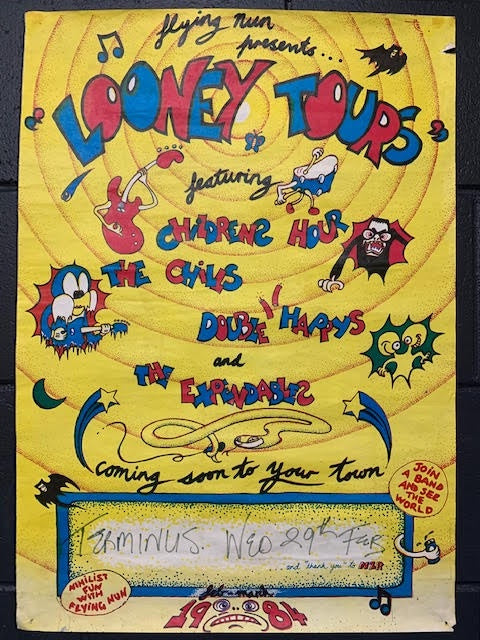 FLYING NUN PRESENTS LOONEY TOURS-ORIGINAL GIG POSTER