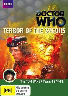 DOCTOR WHO-TERROR OF THE ZYGONS REGION 4 2DVD VG