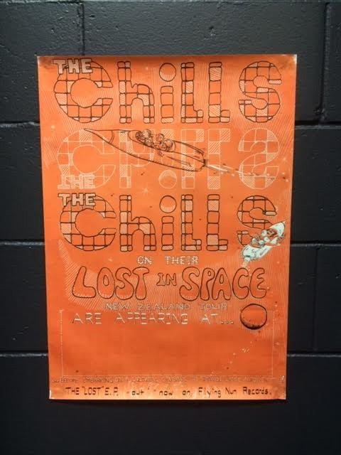 CHILLS THE-LOST IN SPACE NZ TOUR ORIGINAL GIG POSTER