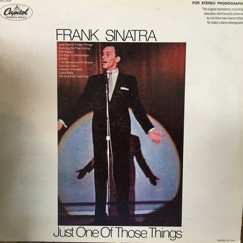 SINATRA FRANK-JUST ONE OF THOSE THINGS LP VG COVER VG+