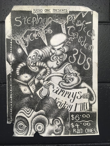 3DS STEPHEN CYCLOPS PERFECT GARDEN-ORIGINAL GIG POSTER